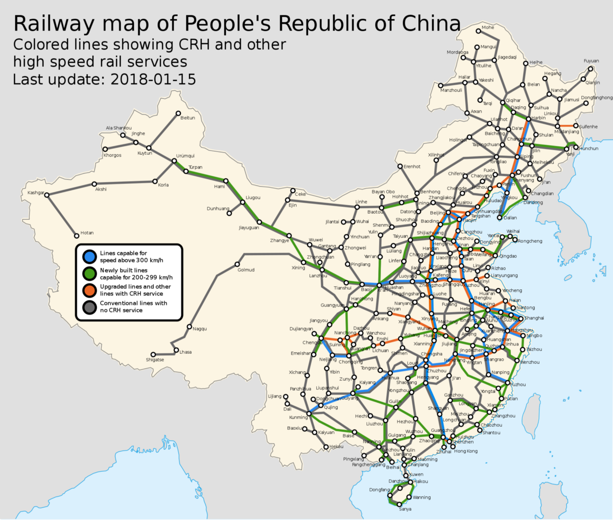 Map of transportation