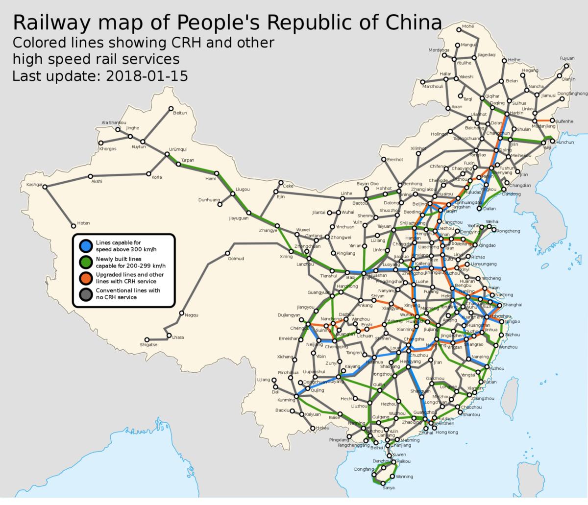 Map of transportation