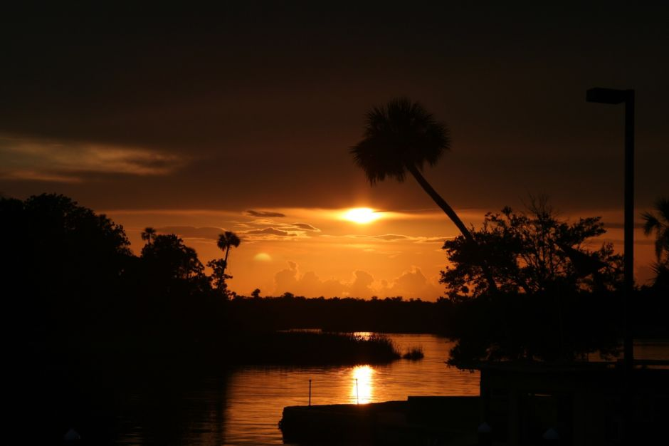 Crystal River Preserve Florida sunset