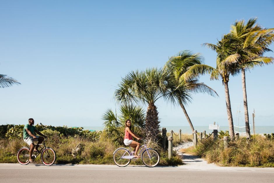Biking beach Fort Myers Sanibel Florida