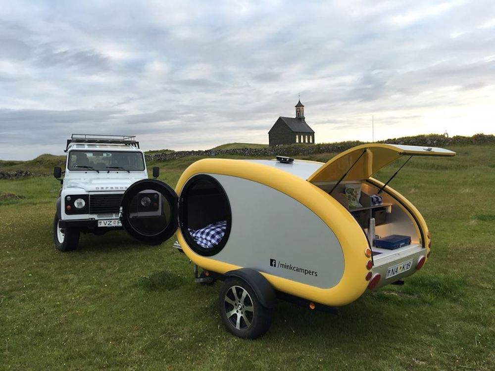 Mini campers in Iceland