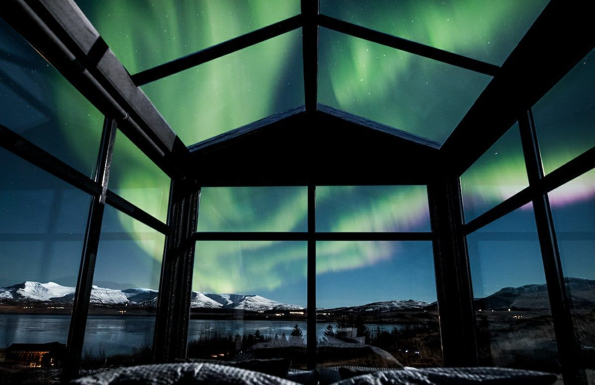 You can sleep in the best northern lights viewing platform in Iceland