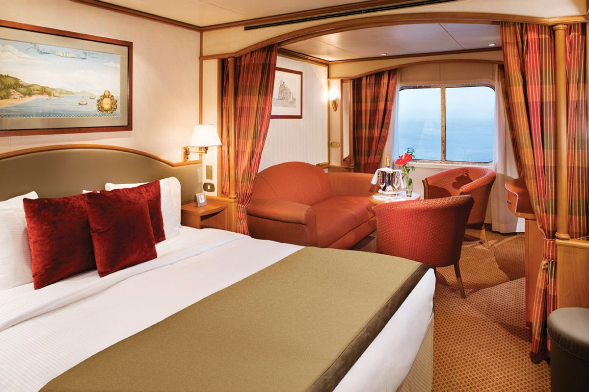 Cruise around the world in a suite