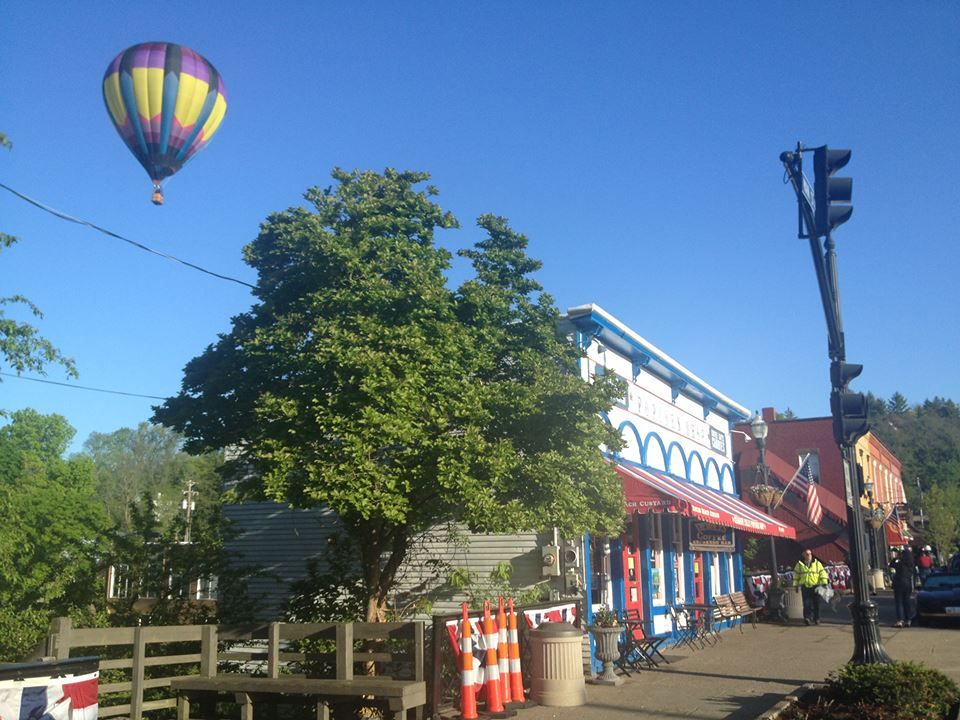Chagrin Falls Popcorn Shop Hot Air Balloon