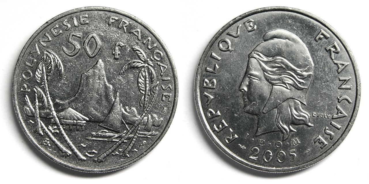 Coin from French polynesia