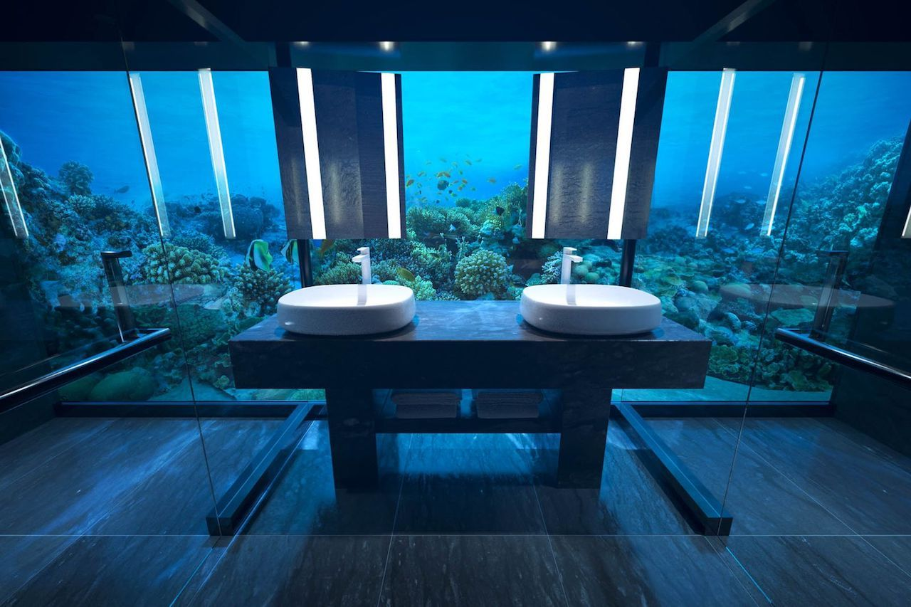 Underwater room at Conrad Maldives