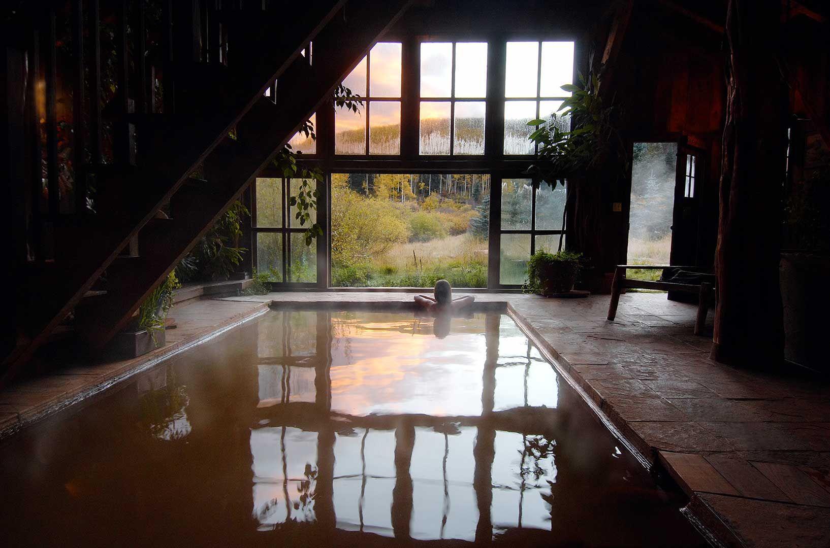 Hot springs in Dunton