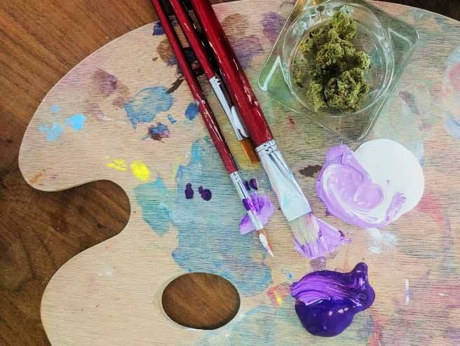 Marijuana and painting