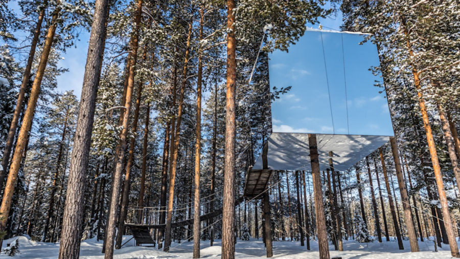 This cozy treehouse hotel in Swedish Lapland is an epic homebase for outdoor adventurers