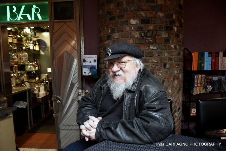 George R.R. Martin inside Jean Cocteau Cinema Santa Fe New Mexico