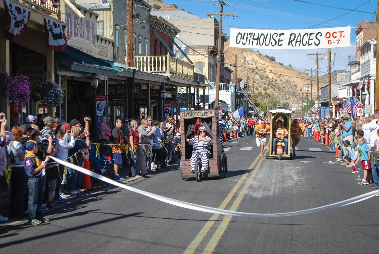 Outhouse Races Virginia City Nevada