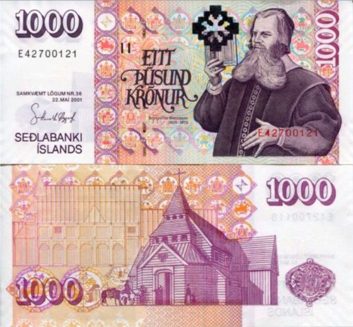 Iceland bills currency