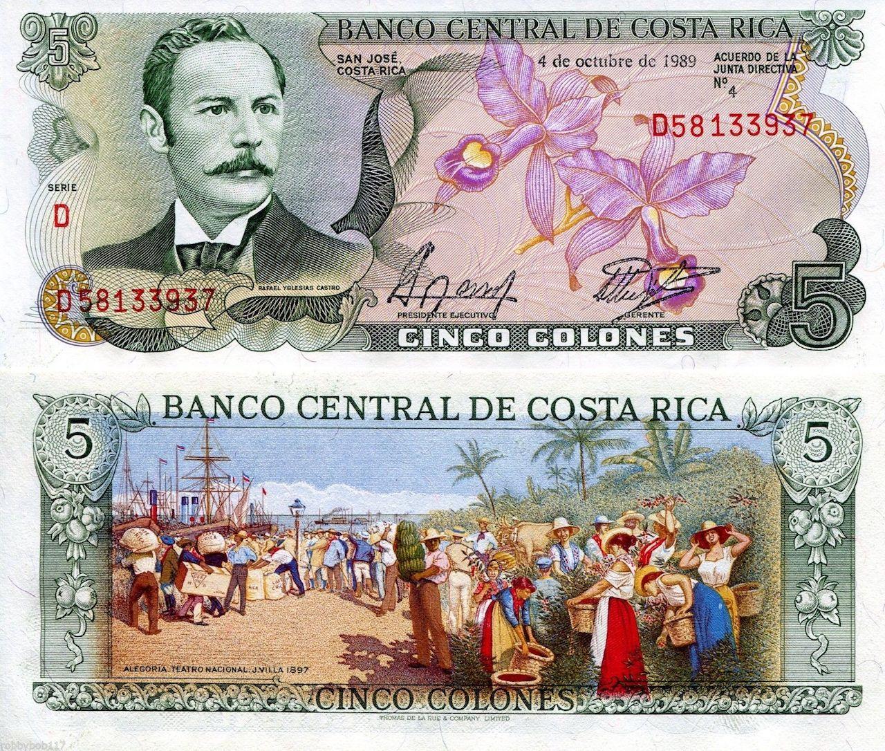 Costa Rican colones