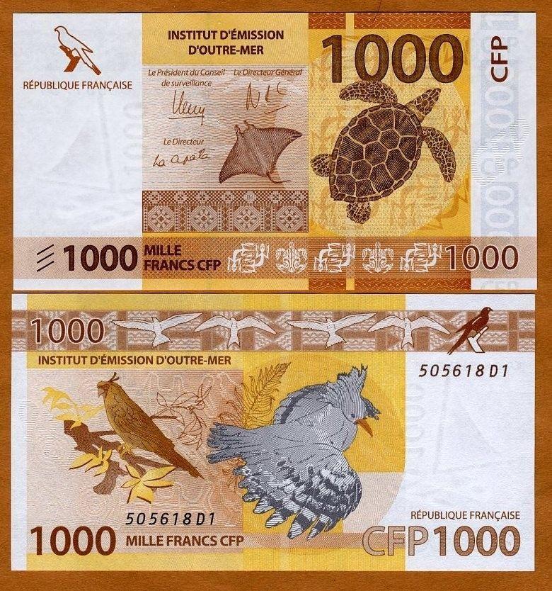 Tahiti banknotes