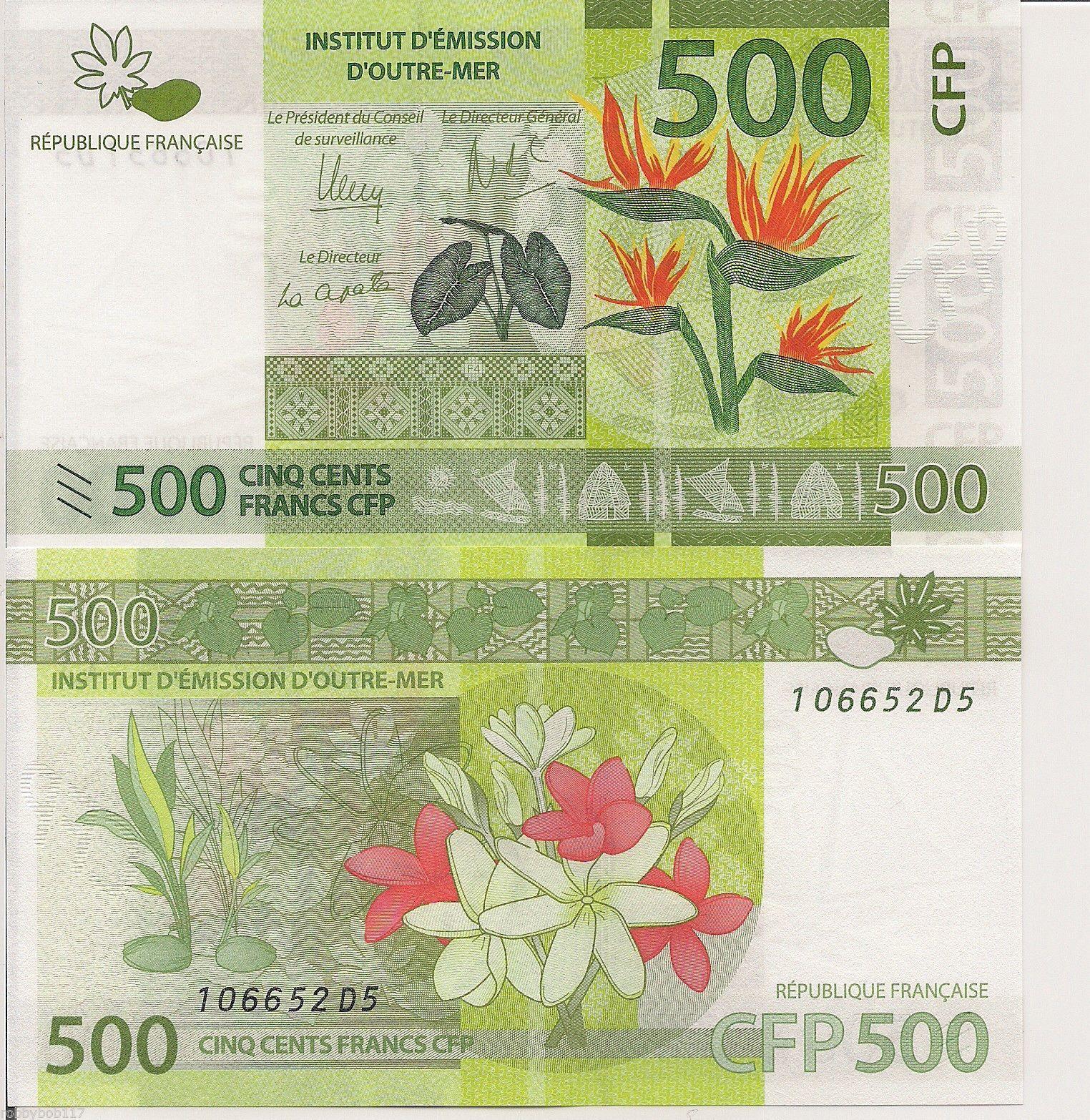 French polynesia banknotes
