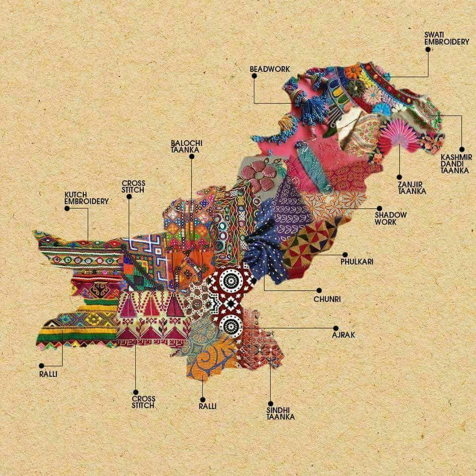 Pakistan textile map