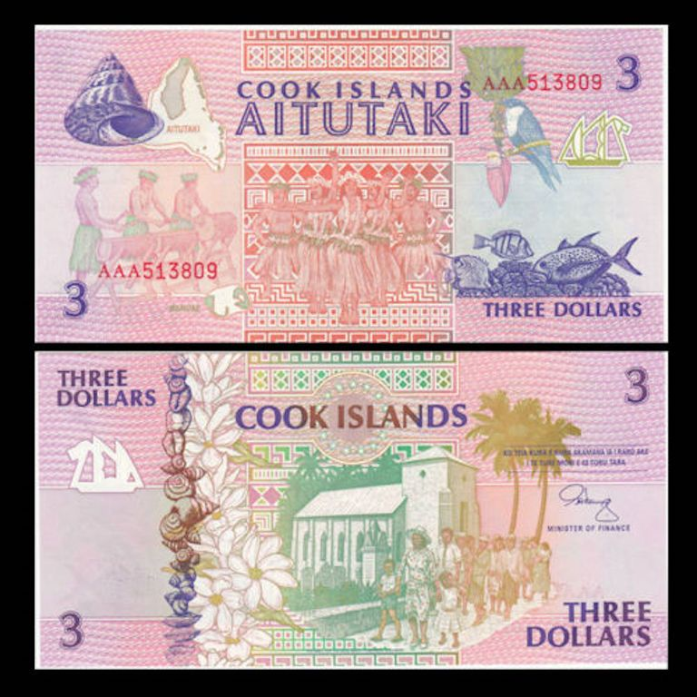 Cook islands banknote