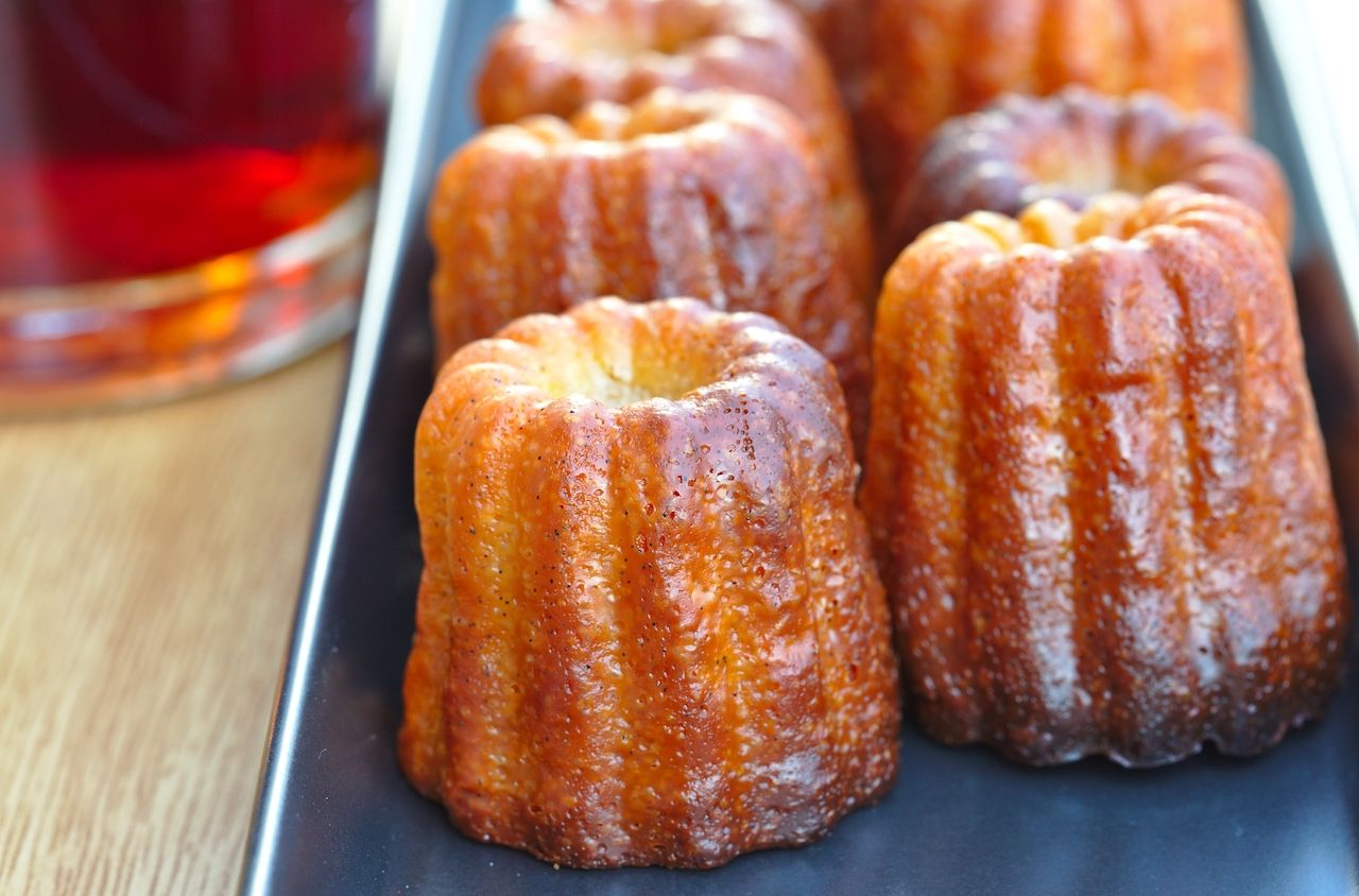 Canelés french traditional dessert from Bordeaux