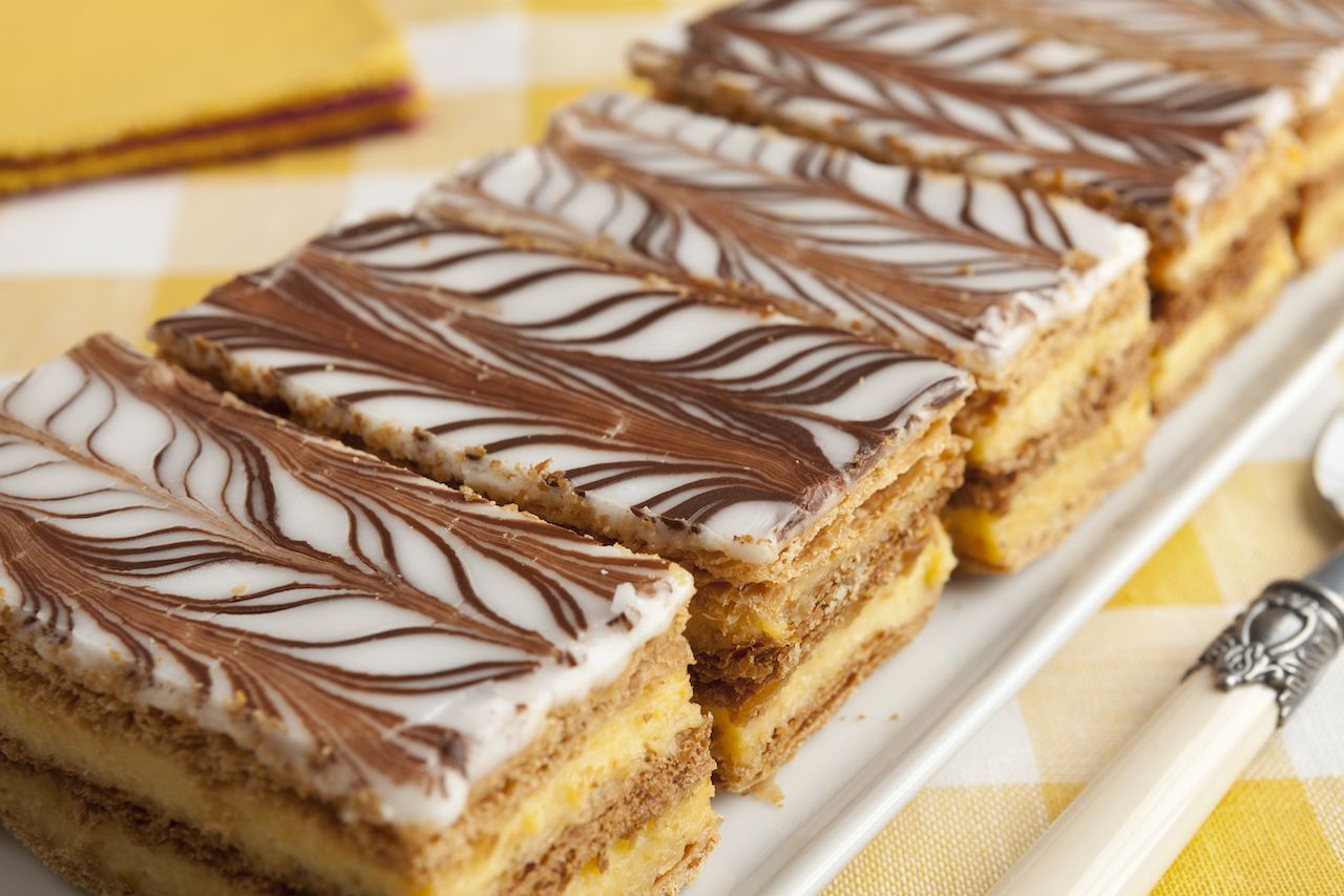 French Moroccan mille feuille pastries