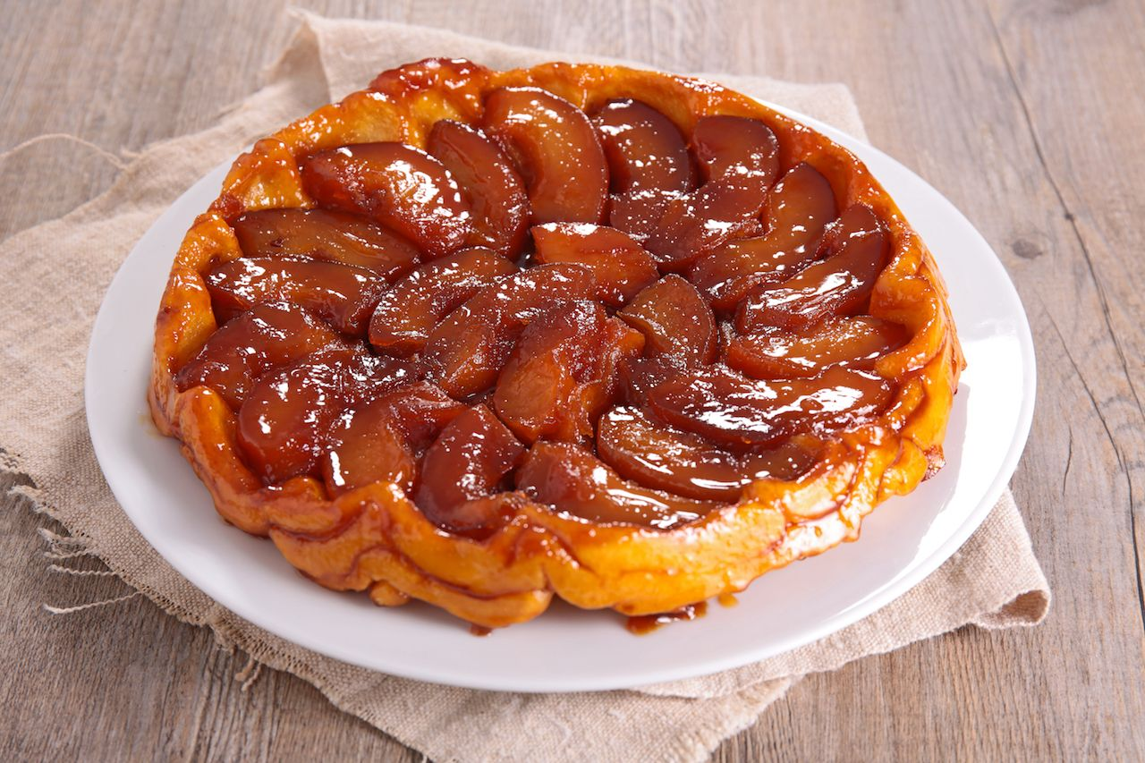 French apple pie tart tatin