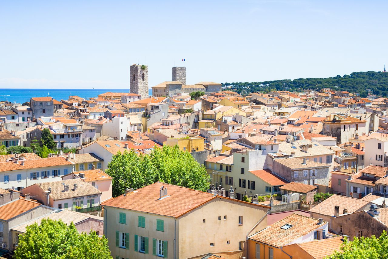 The old city of Antibes, French Riviera