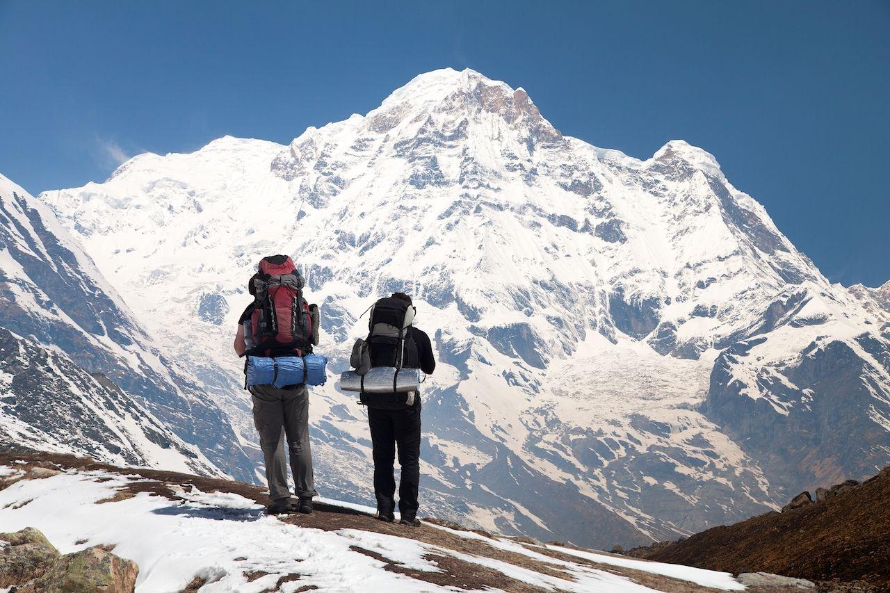Annapurna tourists trekking