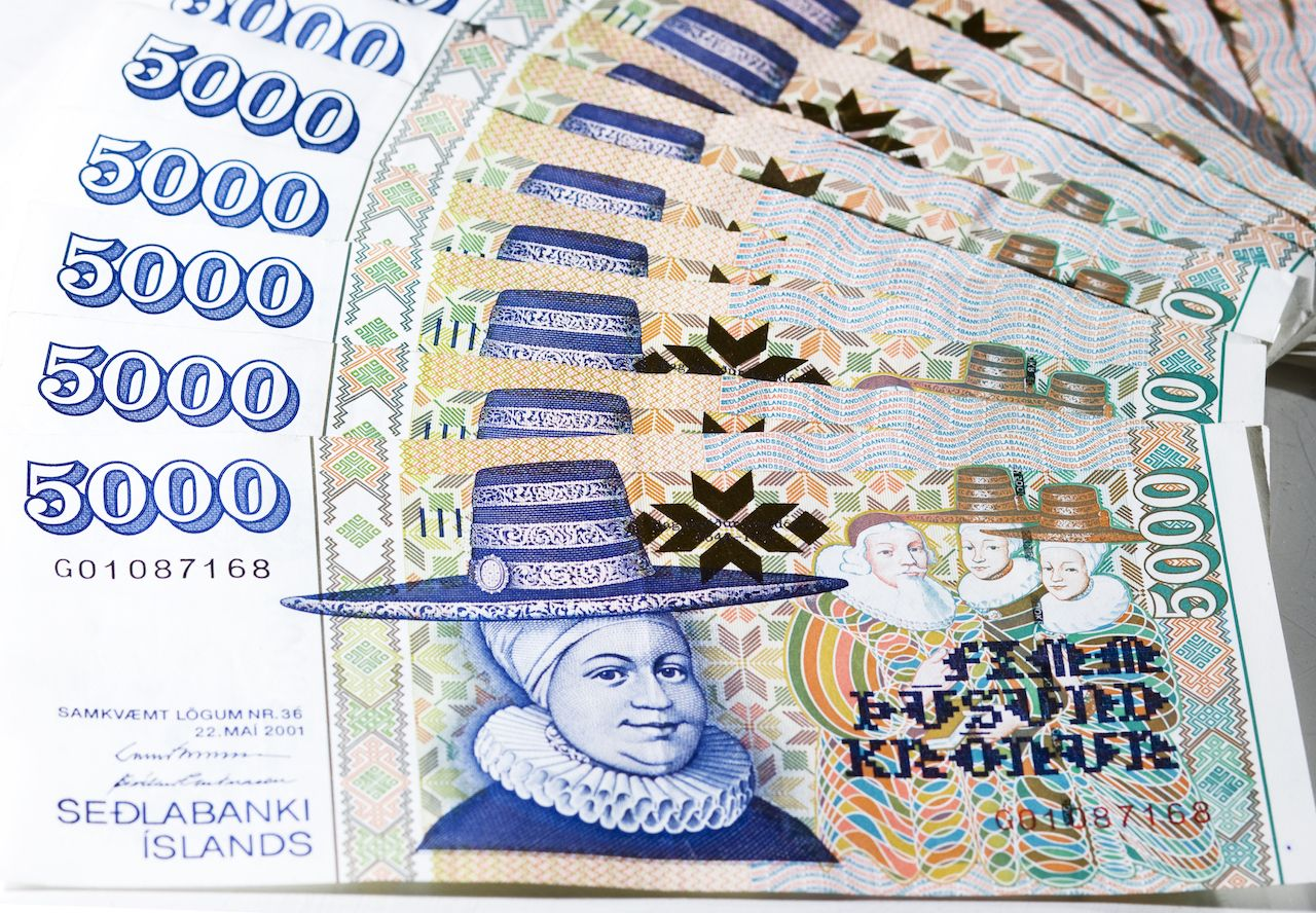 Icelandic krona bill