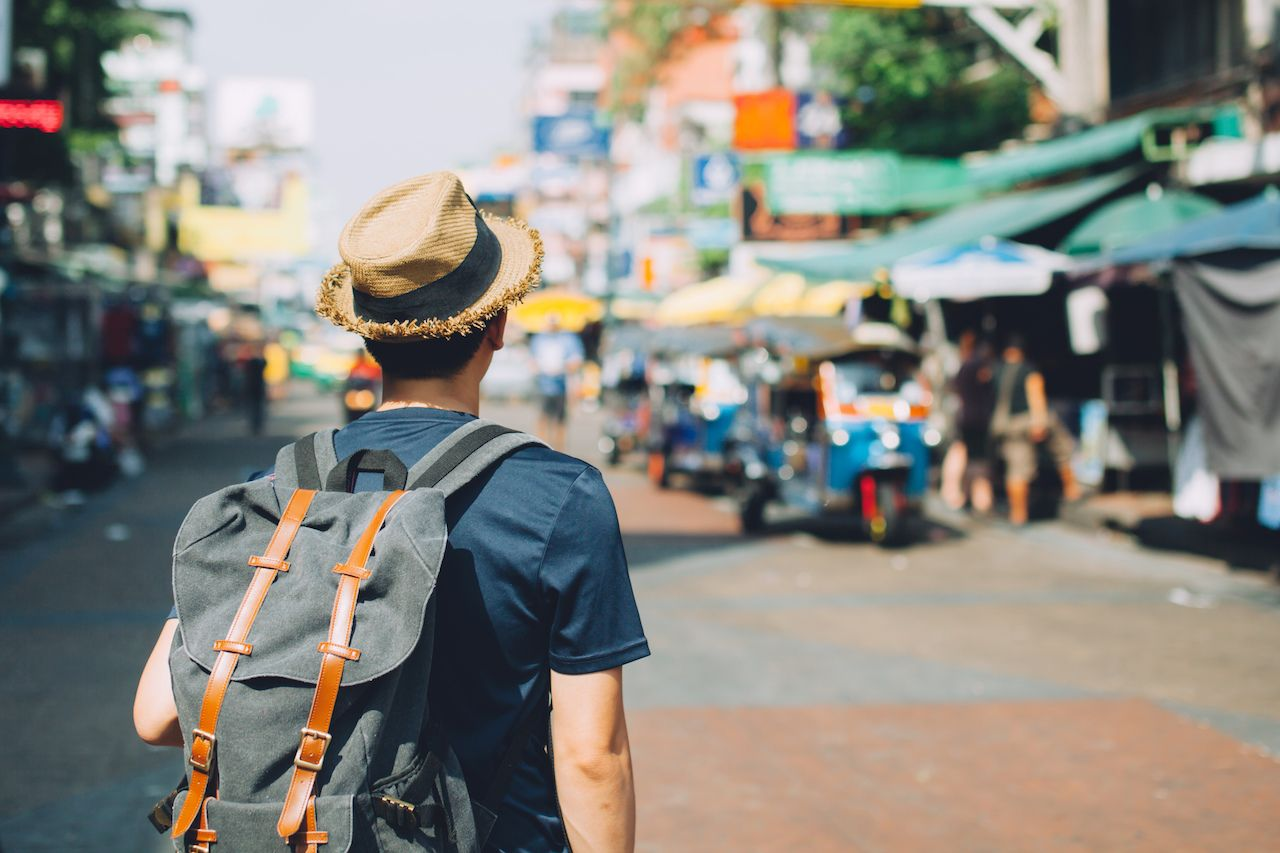 Traveler in Bangkok