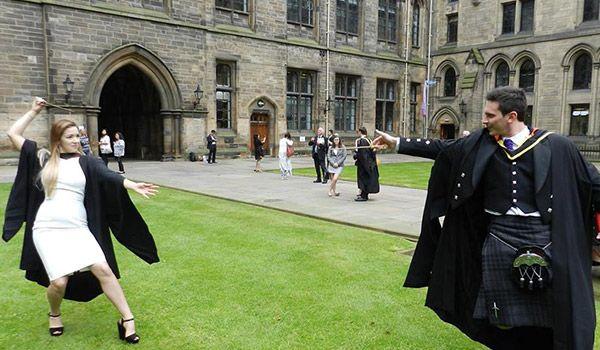 Wand dueling at Hogwarts