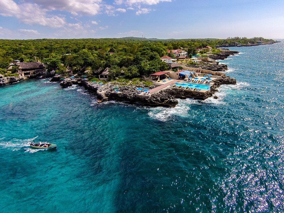 Aerial view of Rockhouse hotel