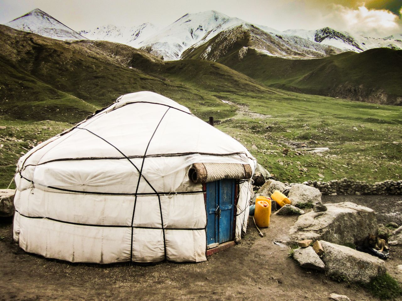 A yurt in Central Asia