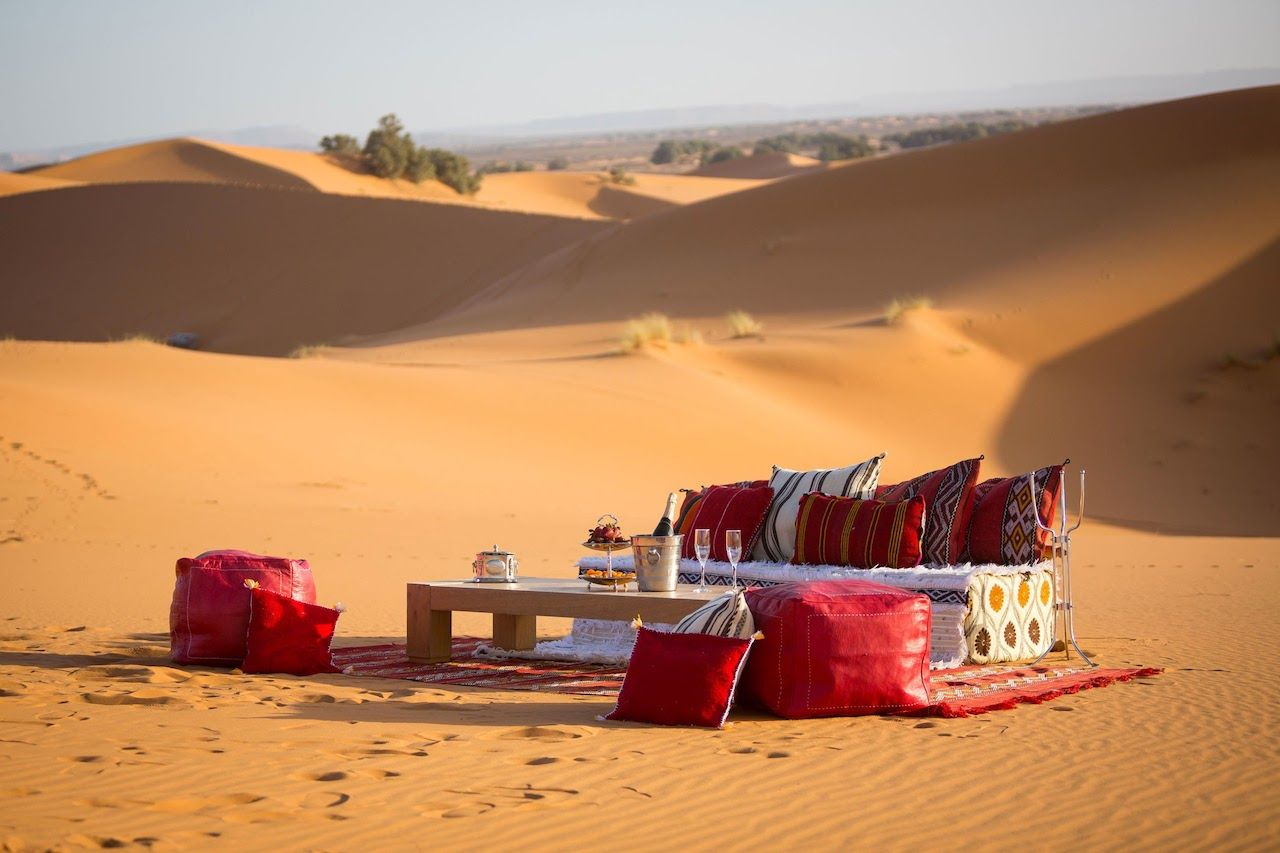 Camp in the Moroccan desert