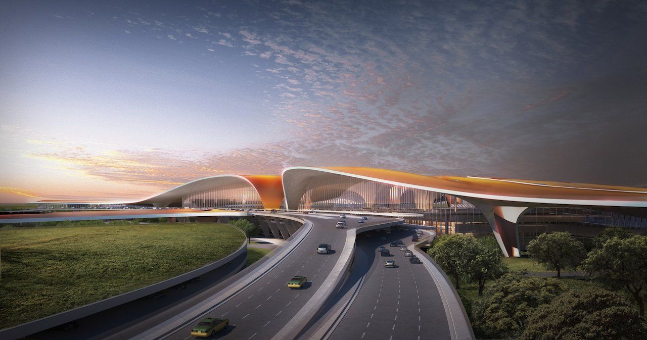 Beijing new airport outside