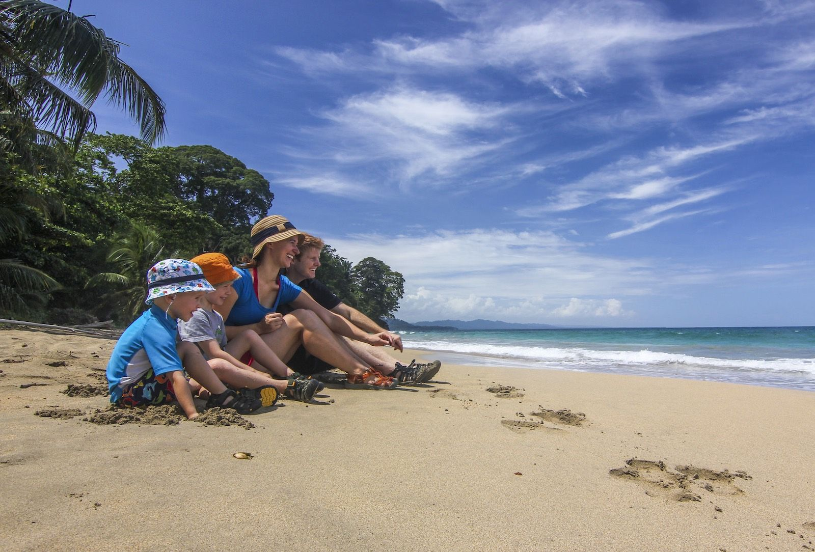 Costa Rica beach family