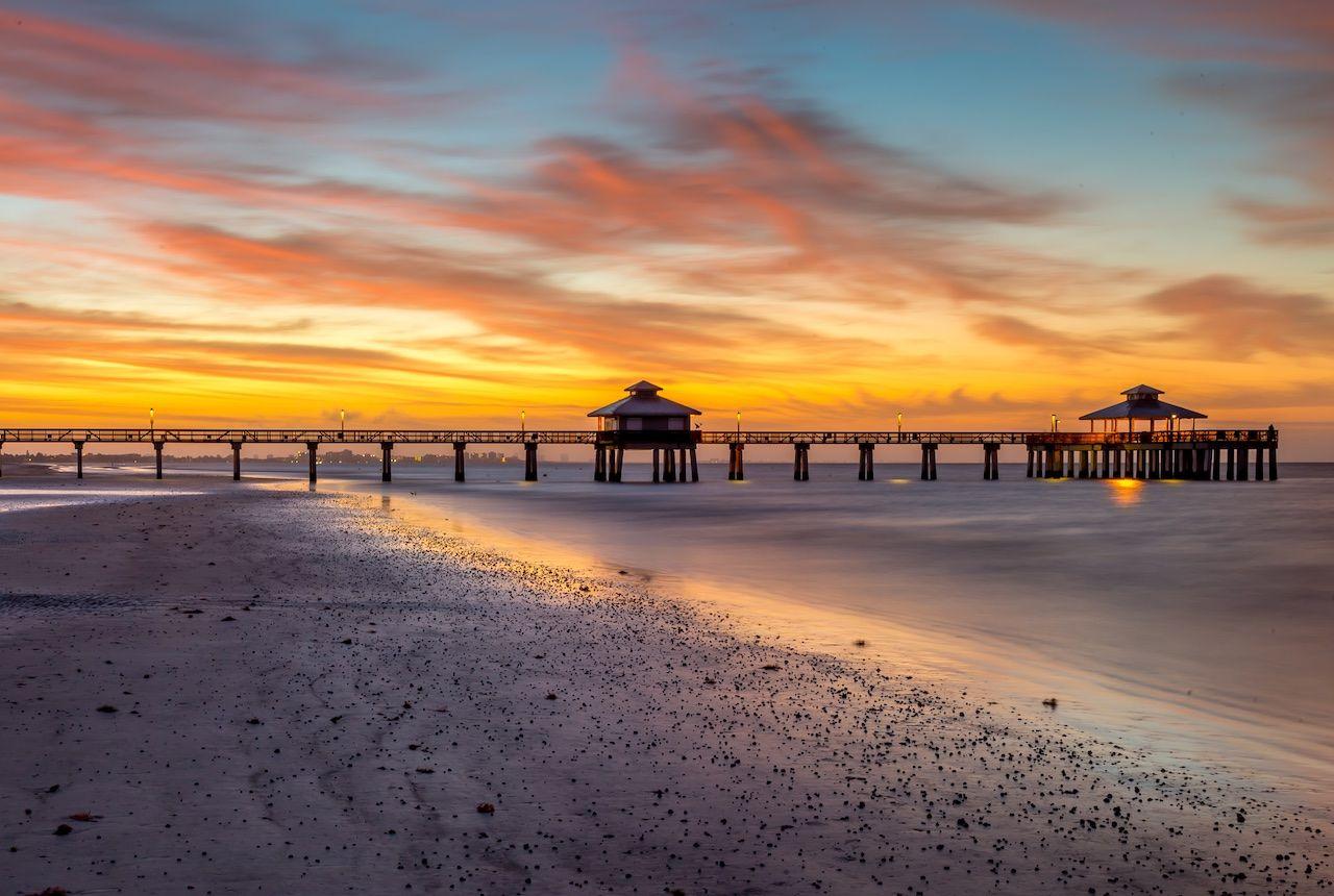 Fort Myers Beach sunset Florida