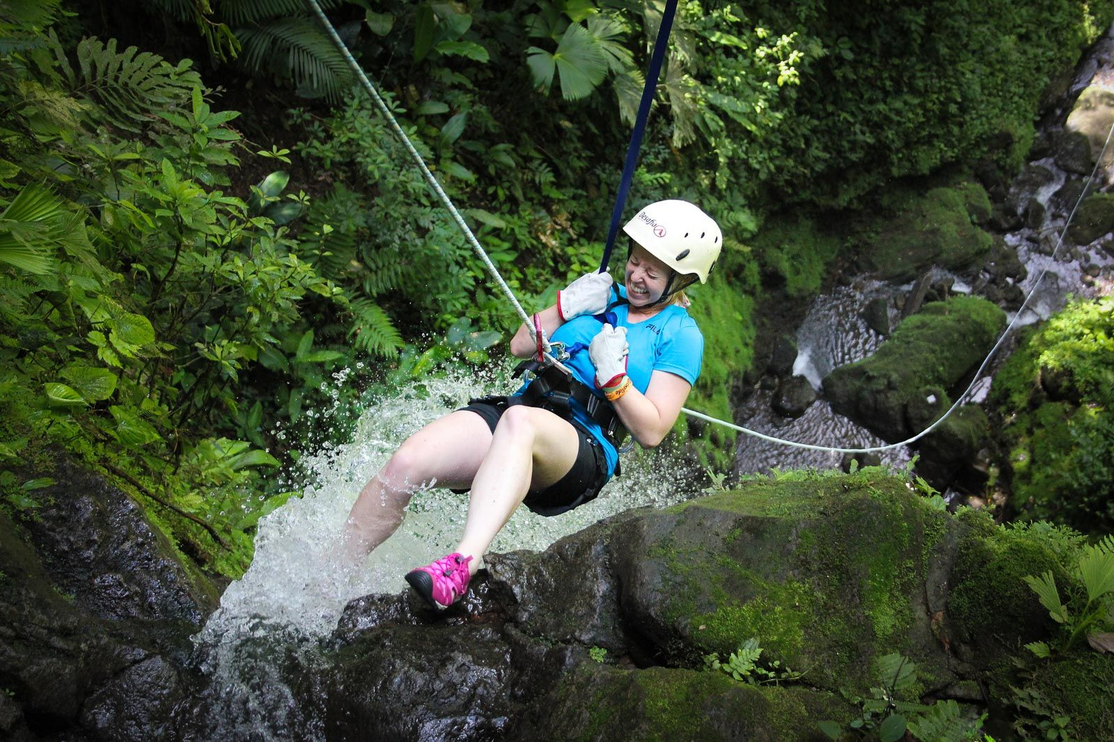 La Fortuna Costa Rica waterfall rappelling