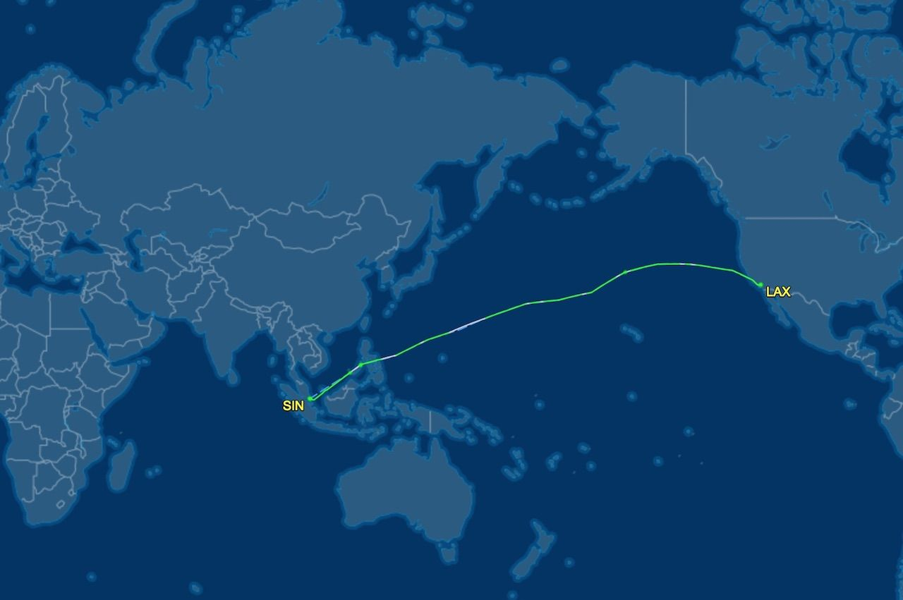 Los Angeles to Singapore nonstop flight
