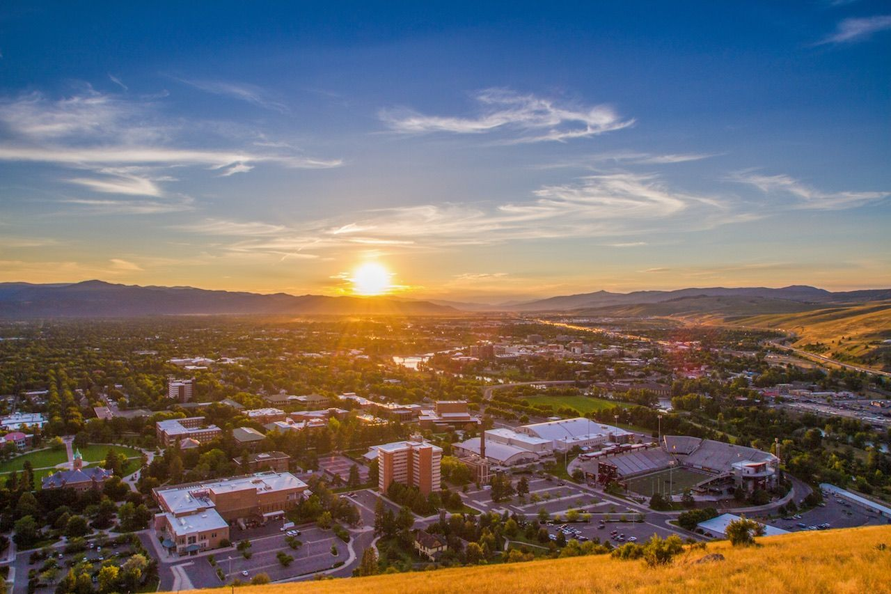 Missoula City at Sunset