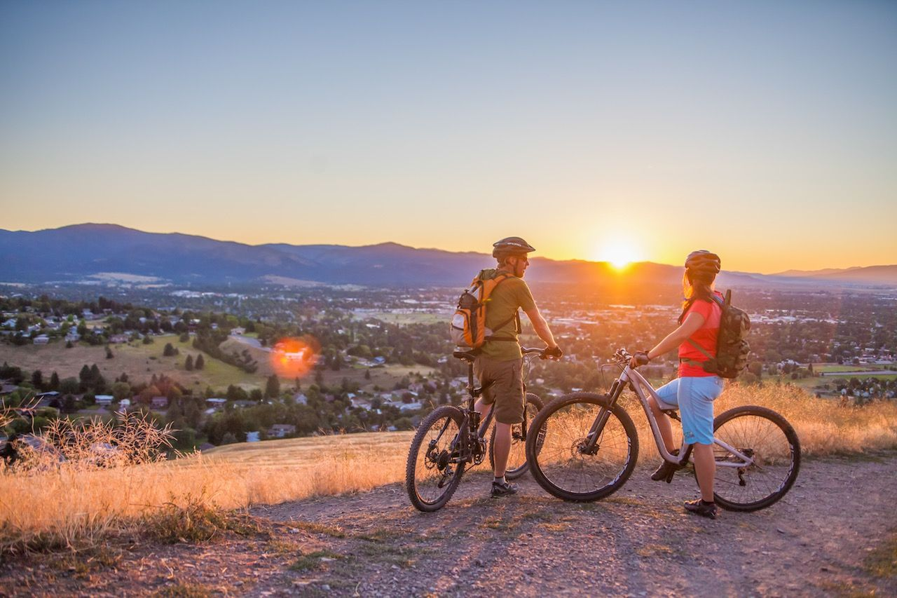 Missoula Montana biking couple