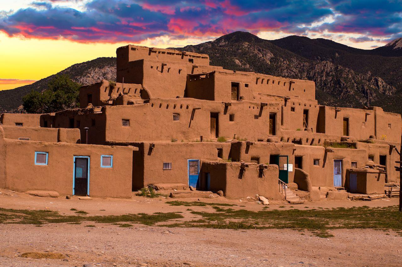 Pueblo house in New Mexico