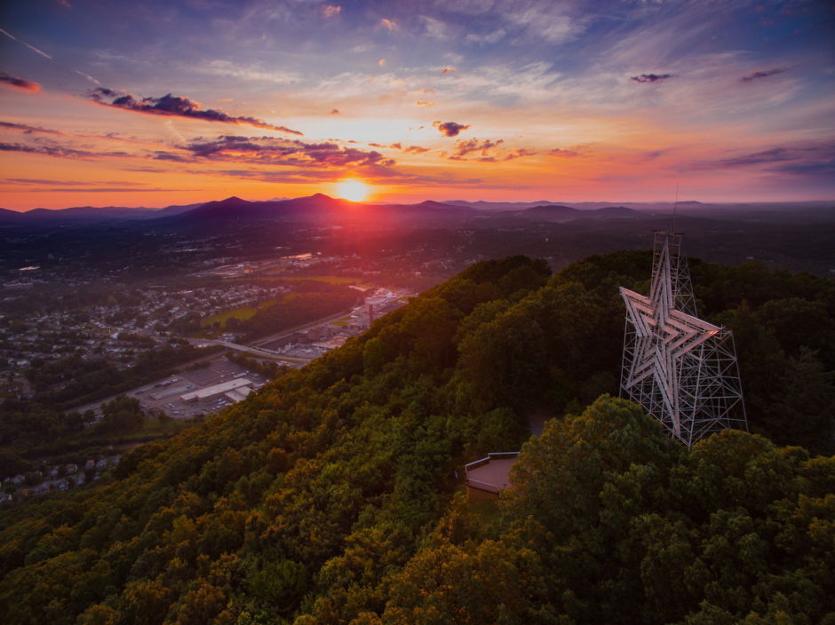 Roanoke 1 Star sunrise Sam Dean Photography Visit Virginias Blue Ridge