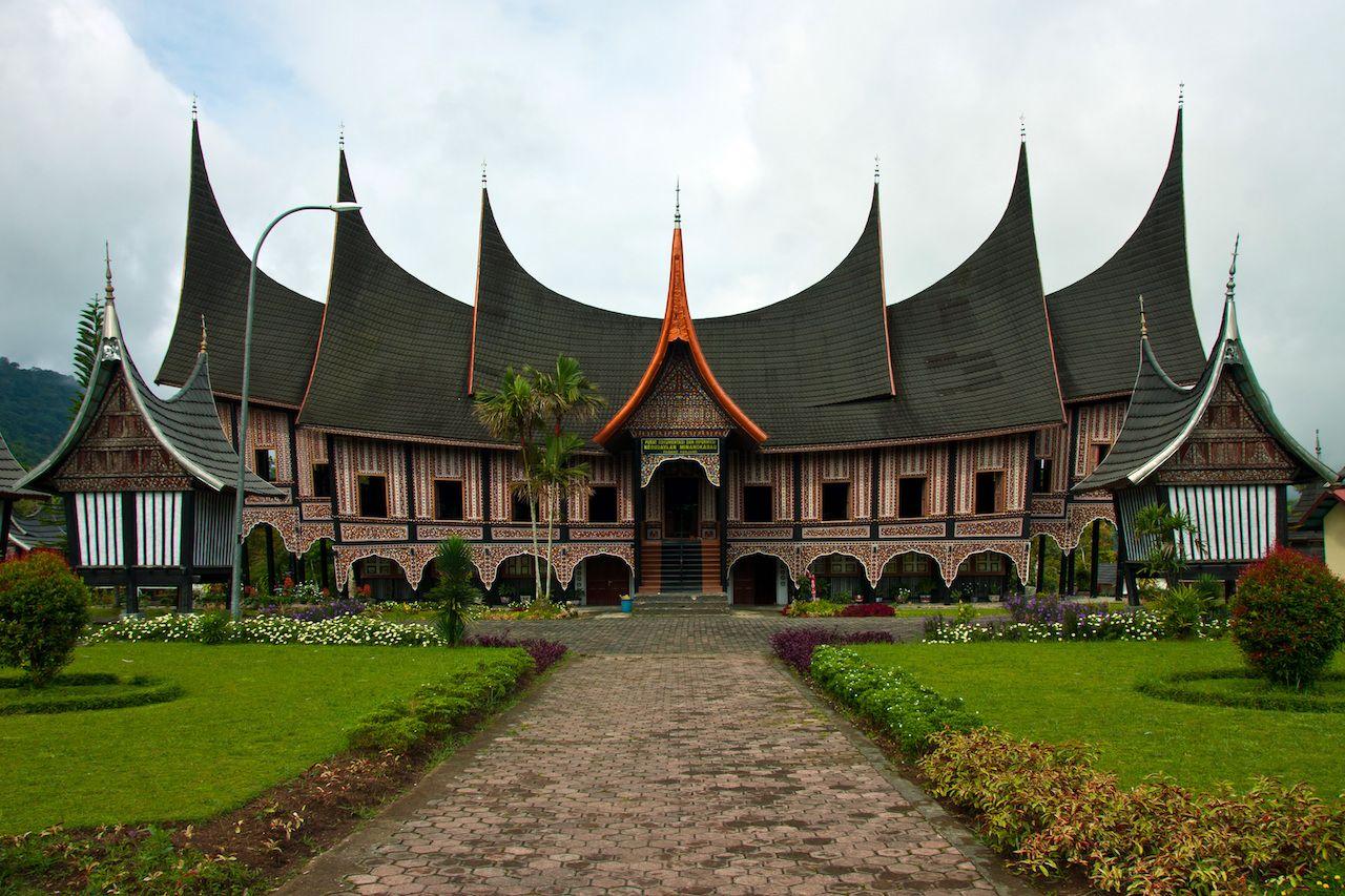 Rumah gadang in Sumatra Indonesia