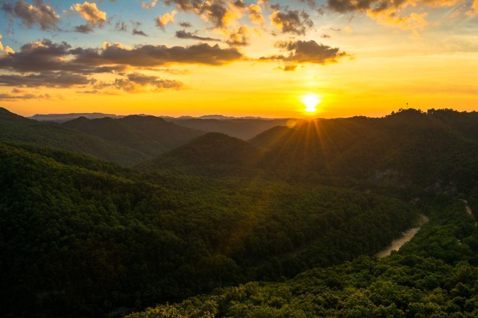 Sunset over Blue Ridge Mountains Virginia