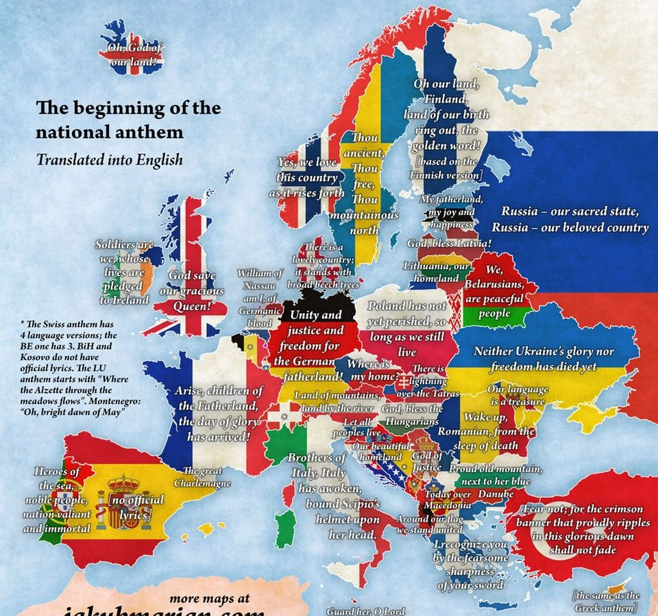 This map shows the beginning of every European country's ... Map Ytics on