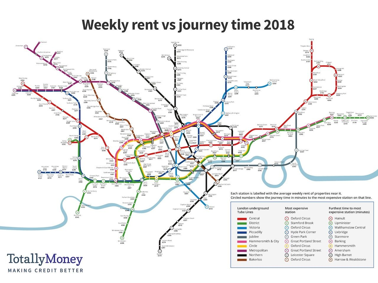 map of london rents