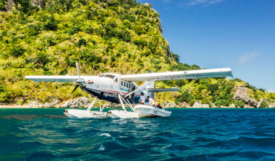 Seaplane at Sawa-i-Lau, Fiji