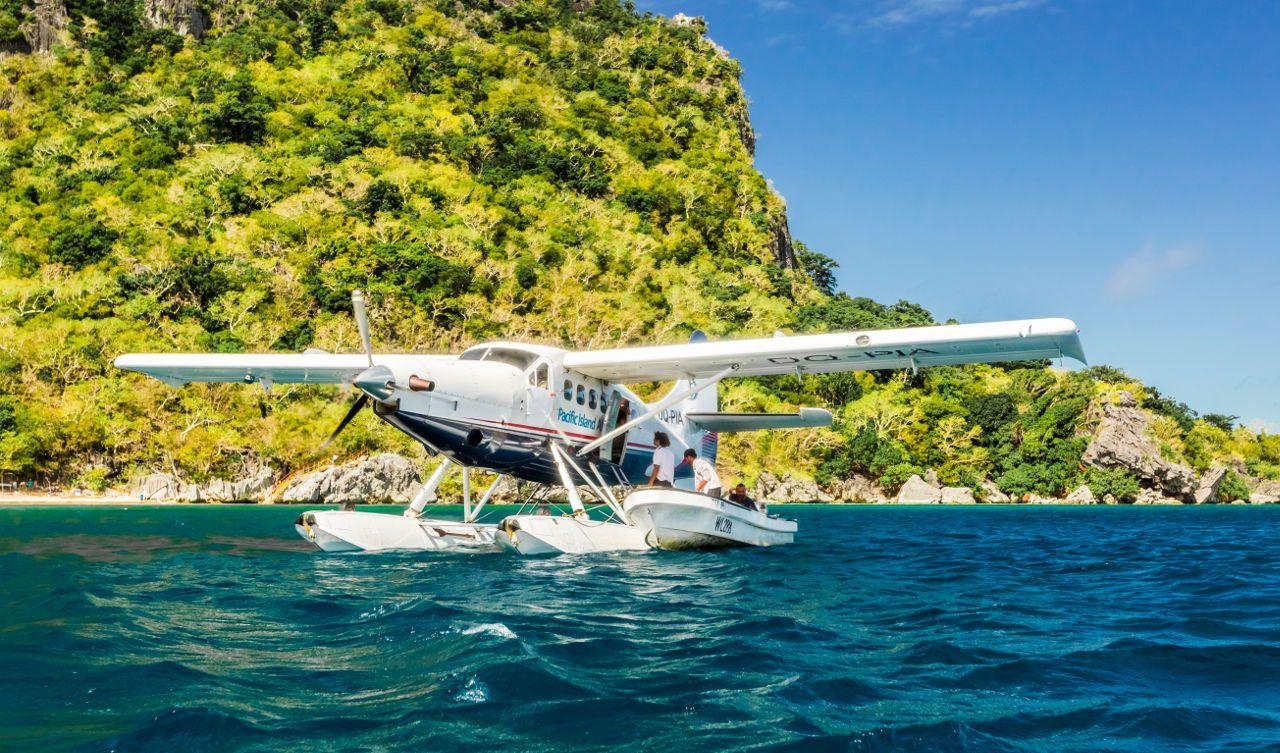 Seaplane at Sawa-i-Lau, Fiji