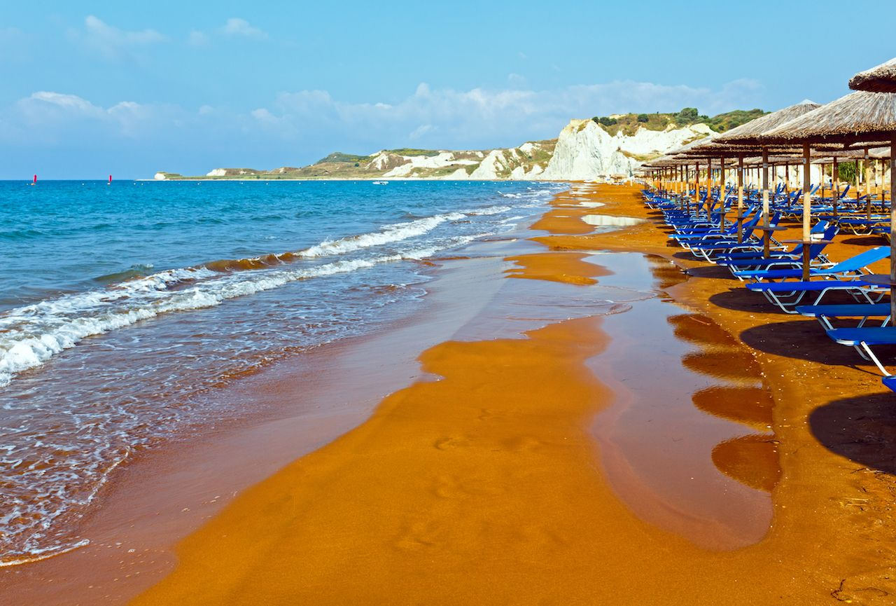 Greece beach ionian sea