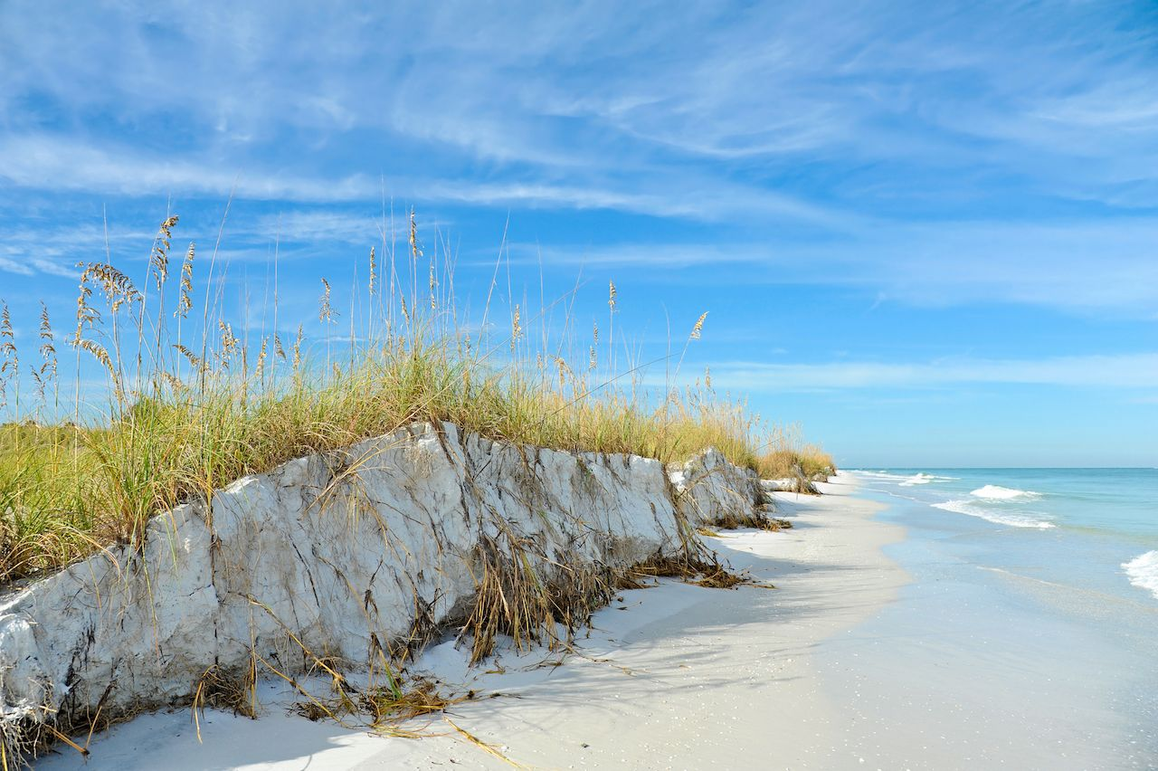 Coastline of Anna Maria Island, Florida