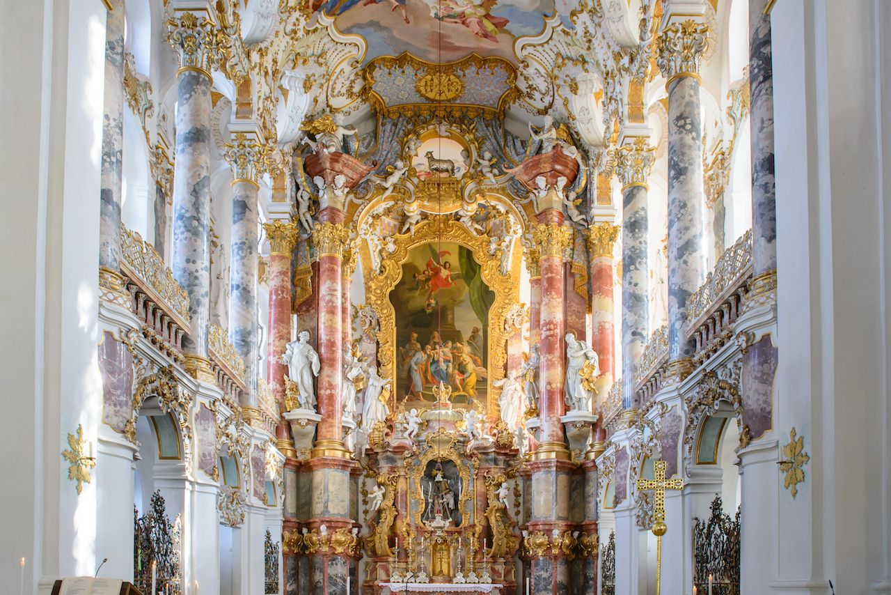 wieskirche church in bavaria, Germany, Europe